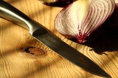 Onion sliced knife B Stock Image