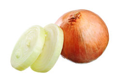 Onion and slices Stock Photos