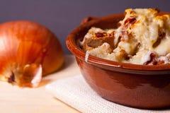 Onion soup. Food: Home made onion soup Stock Photos