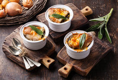 Onion soup Royalty Free Stock Photography