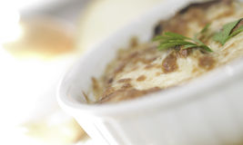Onion soup grilled Stock Photos