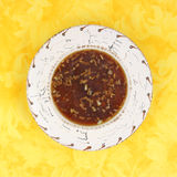 Onion soup in Southwestern style bowl Royalty Free Stock Photo