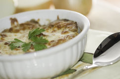 Onion soup white Royalty Free Stock Images