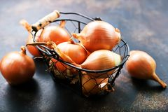 Onion. On a table, raw s, stock photo stock photography