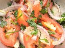 Onion and Tomato salad Royalty Free Stock Image