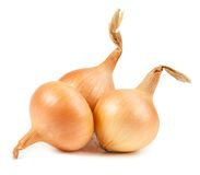 Onion vegetable bulbs on white background Royalty Free Stock Photo