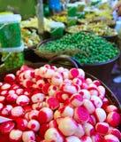 Onion vinegar olives and pickles market Stock Images