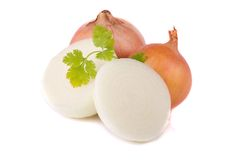 Onion on white Royalty Free Stock Images