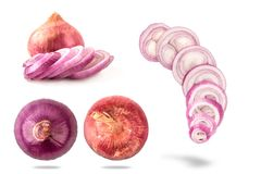 Onion white  background,cut,slide Royalty Free Stock Image