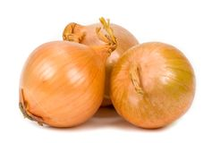 Onion on a white background Royalty Free Stock Images