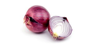 Onion on white background stock footage