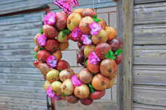 Onion Wreath Stock Photos