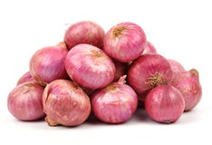 Onions. Group of onions on white background Royalty Free Stock Images