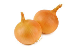 Onions. Isolated on white background Royalty Free Stock Images