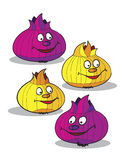 Onions cartoon Stock Image