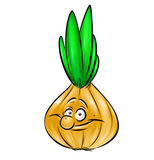 Onions cheerful character cartoon illustration Royalty Free Stock Photography