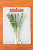 Onions on the cutting board Royalty Free Stock Image
