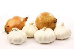 Onions and garlic Royalty Free Stock Image