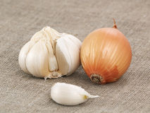 Onions and Garlic Stock Photography