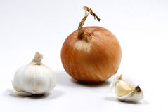 Onions and garlic(composition) Royalty Free Stock Image