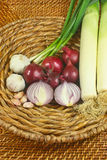 Onions Garlic Leek Royalty Free Stock Photography
