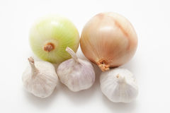 Onions and garlic Stock Image