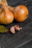 Onions and garlic Stock Photos