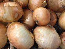 Onions at the grocery Market stock images
