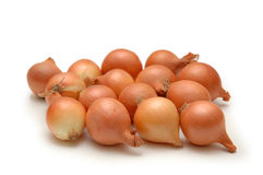 Onions isolated. On white background Royalty Free Stock Photo