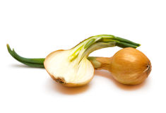 Onions isolated Royalty Free Stock Photography