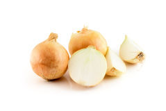 Onions isolated on the white Royalty Free Stock Images