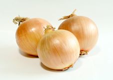 Onions isolated on a white Royalty Free Stock Photo