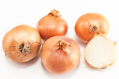 Onions isolated on white Royalty Free Stock Photos