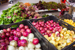 Onions at Market Stock Photo