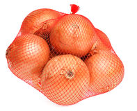 Onions in net Stock Images