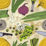 Onions pattern Royalty Free Stock Images