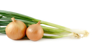 Onions and scallions Stock Photo