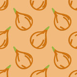 Onions Seamless Pattern Kid's Style Hand Drawn Royalty Free Stock Photos