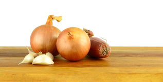 Onions, shallots & garlic Stock Images