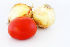 Onions and Tomato Stock Photography
