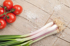 Onions and tomatoes Stock Photo