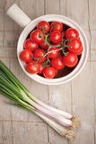Onions and tomatoes Royalty Free Stock Photo