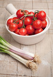 Onions and tomatoes Royalty Free Stock Photos
