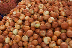 Onions in the Turkish market Royalty Free Stock Photo