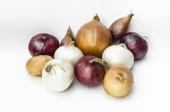 Onions. Variety of onions, vegetable texture Stock Photo