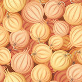 Onions. Vector seamless background. Royalty Free Stock Image