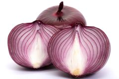 Onions on a white background Royalty Free Stock Photo