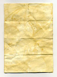 Onl vintage paper. A piece of grungy old paper with creases and folds and marks Stock Images