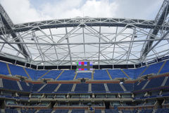 Onlangs Beter Arthur Ashe Stadium in Billie Jean King National Tennis Center Stock Foto's