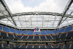 Onlangs Beter Arthur Ashe Stadium in Billie Jean King National Tennis Center Stock Afbeelding